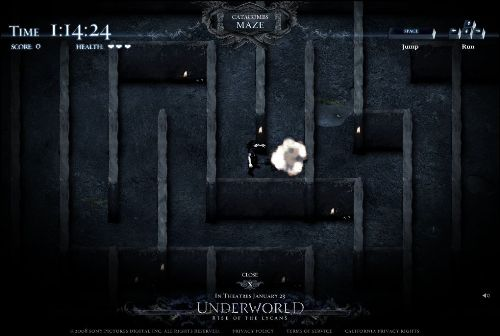 Underworld rise of the lycans site screenshot 2 game catacombs maze 1 - Copy