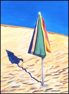 David_hockney_beach_umbrella